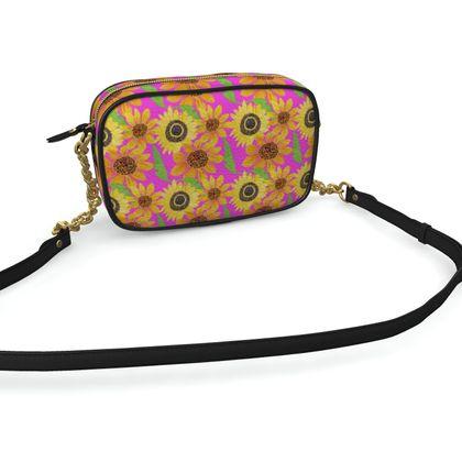 Naive Sunflowers On Fuchsia Camera Bag