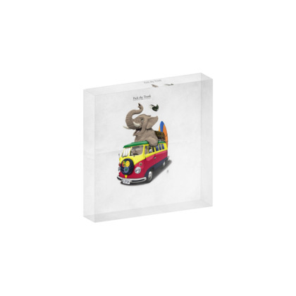 Pack the Trunk ~ Title Animal Behaviour Acrylic Photo Blocks