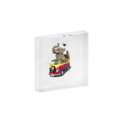 Pack the Trunk ~ Wordless Animal Behaviour Acrylic Photo Blocks