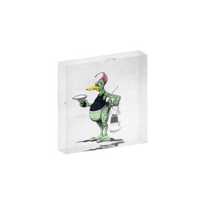 Space Duck ~ Wordless Animal Behaviour Acrylic Photo Blocks