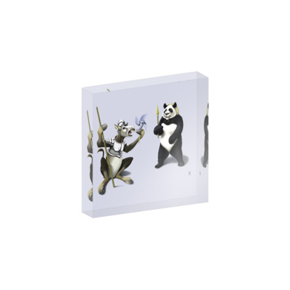 Donkey Xote and Sancho Panda ~ Colour Animal Behaviour Acrylic Photo Blocks
