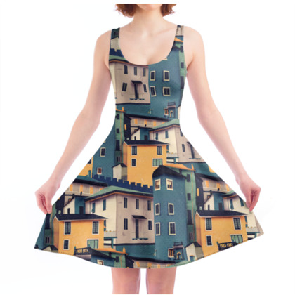Castles at Night - Skater Dress