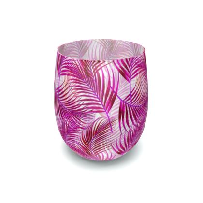 Tropical Garden Collection in Magenta Water Glass