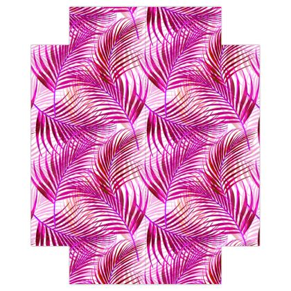 Tropical Garden Collection in Magenta Fitted Sheets USA
