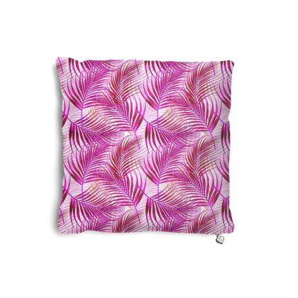 Tropical Garden Collection in Magenta Pillows Set