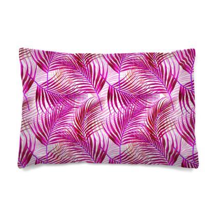 Tropical Garden Collection in Magenta Pillow Case