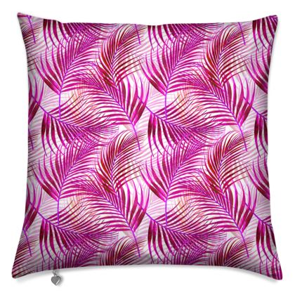 Tropical Garden Collection in Magenta Cushions