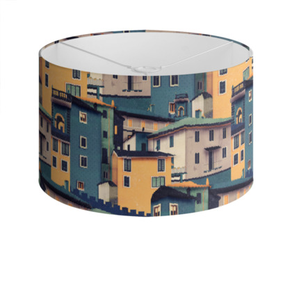 Castles at Night - Drum Lamp Shade