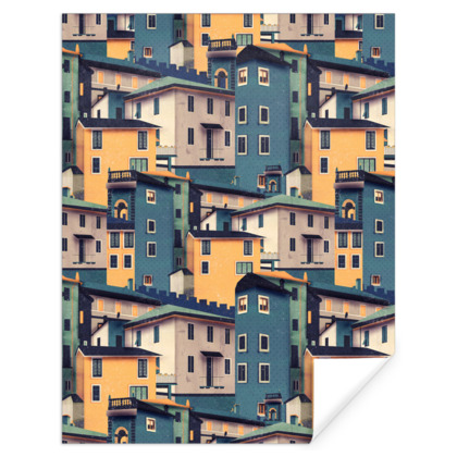 Castles at Night - Gift Wrap