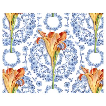Blue Rhapsody Daylilies Espadrilles