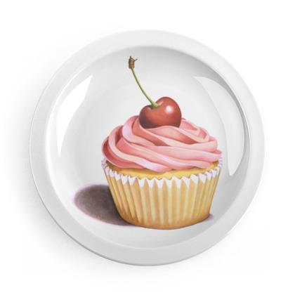 Pink Cupcake Party Plates
