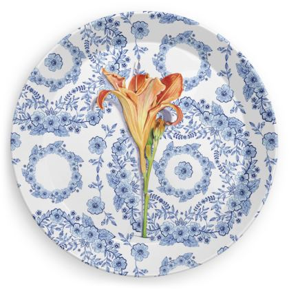 Blue Rhapsody Daylily Party Plates