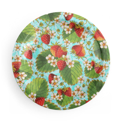 Ripe Strawberries Party Plates