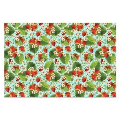 Strawberries on Aqua Sarong