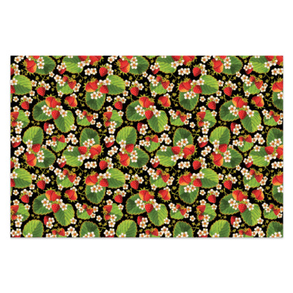Strawberries on Black Sarong