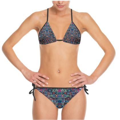 Bikini Splashes Blue Brown