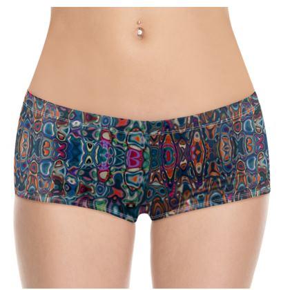 Hot Pants Splashes Blue Brown