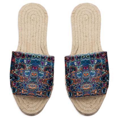 Sandal Espadrilles Splashes Blue Brown