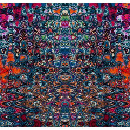 Kimono Jacket Splashes Blue Brown