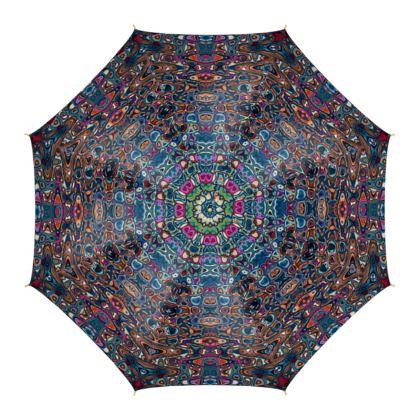 Umbrella Splashes Blue Brown