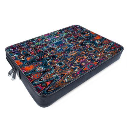 Laptop Bags Splashes Blue Brown