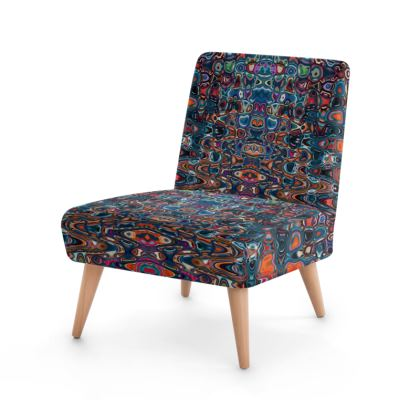 Occasional Chair Splashes Blue Brown
