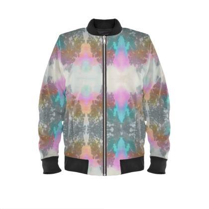 Pastel Tye Dye effect Ladies Bomber Jacket