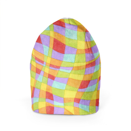 Rainbow Plaid Beanie