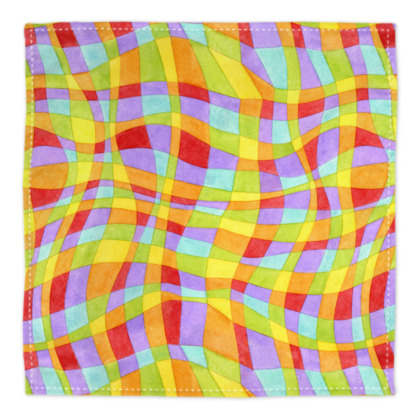 Rainbow Plaid Bandana