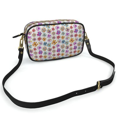 Rainbow Daisies Collection On White Camera Bag