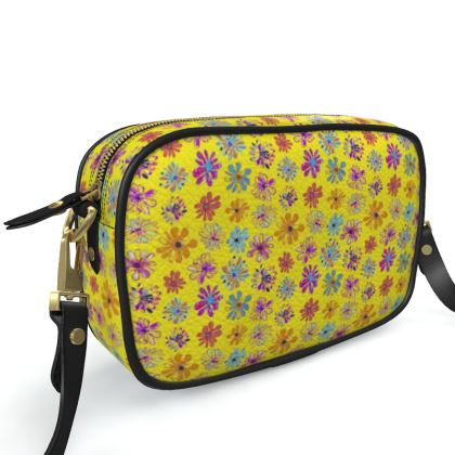 Rainbow Daisies Collection on yellow Camera Bag