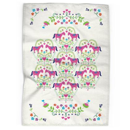 Tea Towel - Donkey Love, Intricate