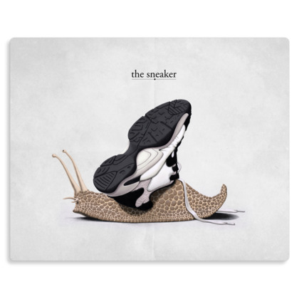 The Sneaker ~ Wordless Animal Behaviour Metal Print