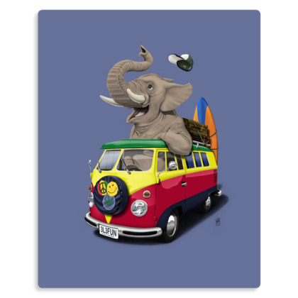 Pack the Trunk ~ Wordless Animal Behaviour Metal Print
