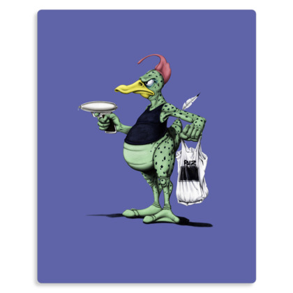 Space Duck ~ Wordless Animal Behaviour Metal Print
