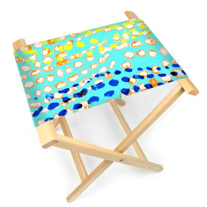 Textural Collection multicolored Folding Stool Chair