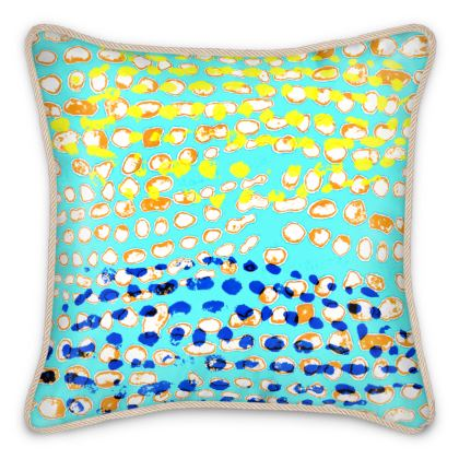Textural Collection multicolored Silk Cushions