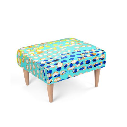 Textural Collection multicolored Footstool