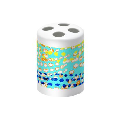 Textural Collection multicolored Toothbrush Holder