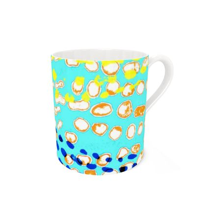 Textural Collection multicolored Bone China Mug