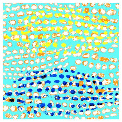 Textural Collection multicolored Leather Clutch Bag