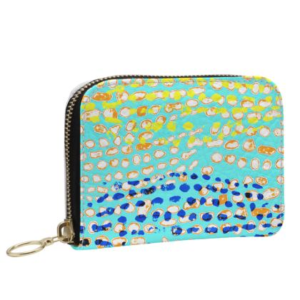 Textural Collection multicolored Small Leather Zip Purse