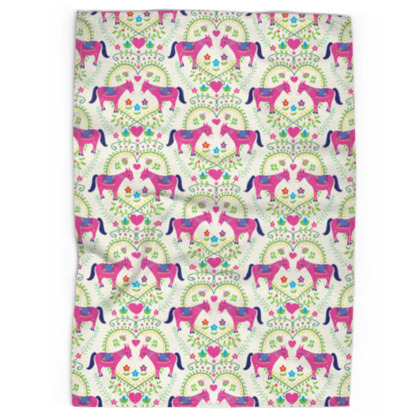 Tea Towel - Donkey Love, Bright