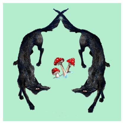 Wolf Design Luxury Velvet Cushion