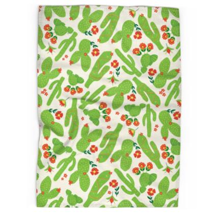 Tea Towel - Cactus, Bright