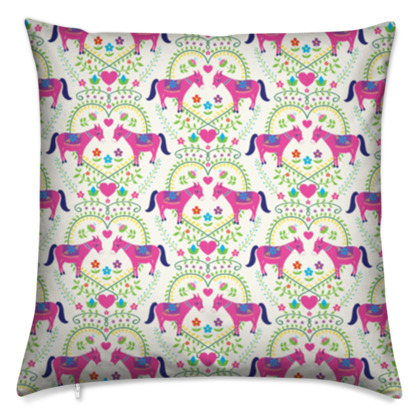 Cushion - Donkey Love, Bright