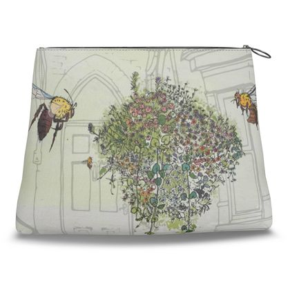 Save the Bees Clutch Bag