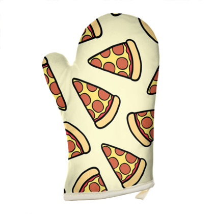 Pepperoni Pizza Pattern Oven Glove