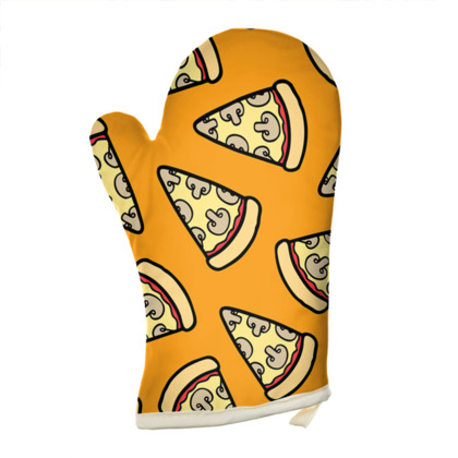 Mushroom Pizza Pattern Oven Glove