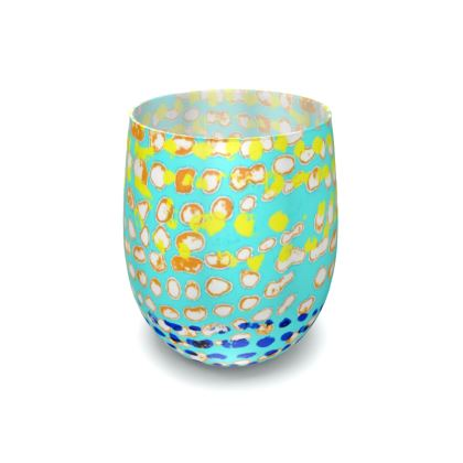 Textural Collection multicolored Water Glass